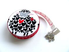Measuring Tape I Love Sheep Retractable Tape by AllAboutTheButtons