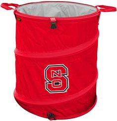 "North Carolina State Wolfpack Collapsible Trash Can (Doubles as Cooler and Laundry Hamper): ""Container for light trash… #onlinesports"