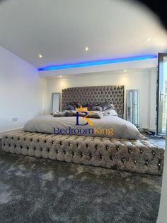 Fancy Bedroom, Bedding Master Bedroom, King Bedroom, Room Ideas Bedroom, Home Decor Bedroom, Master Bedrooms, Luxury Rooms, Luxurious Bedrooms, Unique Bed Frames