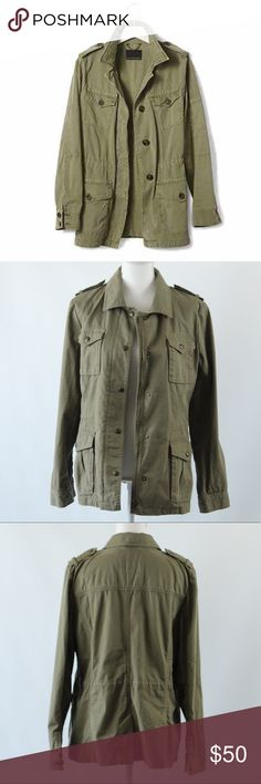Banana Republic Army Jacket Worn only a handful of times, trendy and stylish, comfortable. Size L. Banana Republic Jackets & Coats Trench Coats