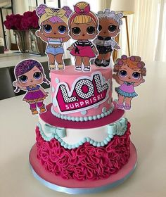 Image may contain: food Doll Birthday Cake, Funny Birthday Cakes, 6th Birthday Parties, Birthday Ideas, Fete Emma, Lol Doll Cake, Surprise Cake, Surprise Birthday, Surprise Ideas