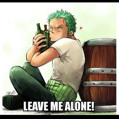 Zoro only need his sake to be happy