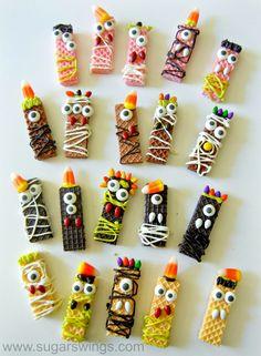 Sugar Swings! Serve Some: Sugar Wafer Monster Halloween Treats