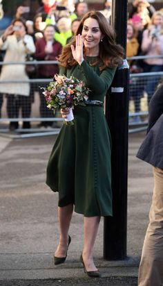 Catherine, Duchess of Cambridge departs from Family Action on January 2019 in Lewisham, England Get premium, high resolution news photos at Getty Images Duchess Kate, Duke And Duchess, Duchess Of Cambridge, Prince William And Kate, William Kate, Princess Kate, Princess Charlotte, Vestidos Kate Middleton, Beulah London