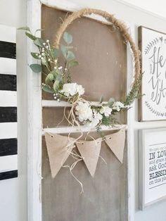 Making Hoop Wreaths for Spring ~ Hallstrom Home