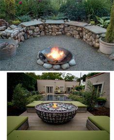 Backyard Garden Design, Diy Garden Decor, Backyard Patio, Melbourne Garden, Fire Pit Plans, Fireplace Garden, Garden Balls, Fence Design, Garden Structures