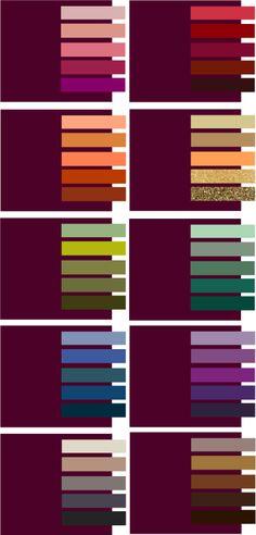 Как сочетать винный цвет? Color Schemes Colour Palettes, Colour Pallette, Color Trends, Color Combos, Color Harmony, Color Balance, Color Matching Clothes, Color Combinations For Clothes, Color Swatches