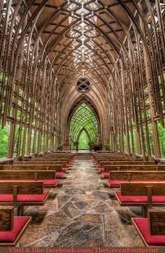 See Through Chapel in the woods Arkansas