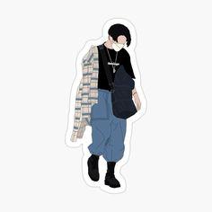 Preppy Stickers, Pop Stickers, Tumblr Stickers, Printable Stickers, Kawaii Stickers, Jungkook Fanart, Foto Jungkook, Foto Bts, Bts Drawings