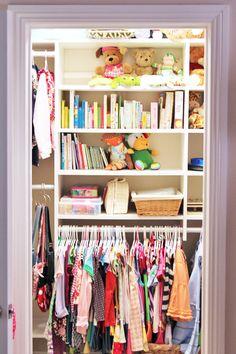 Closet organization...