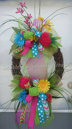 Easter Spring Wreath Spring Deco Mesh by LocklearCreations13
