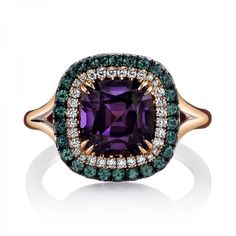 Gorgeous handcrafted Spinel and Alexandrite ring accented with Diamond rounds from Omi Prive! Visit booth 401 at to see more! by agta_gems High Jewelry, Luxury Jewelry, Jewelry Case, Jewellery, Unique Rings, Beautiful Rings, Alexandrite Jewelry, The Bling Ring, Rare Gemstones