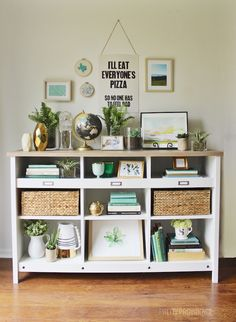 How To Decorate Shelves On A Budget   Such A Brilliant Idea From Pretty  Providence!
