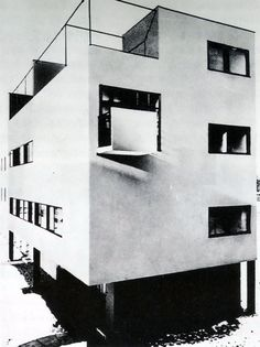 "wmud: "" jiří kroha - new house, czechoslovak werkbund, brno, 1928 "" Movement In Architecture, New Objectivity, Far Away, All Art, Wonderland, New Homes, House, Trendy Tree, Social Realism"