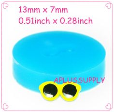FYL259 Super Tiny Sunglasses Silicone Mold by APLUSSUPPLY on Etsy