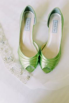 Modern Chic Green & White Wedding
