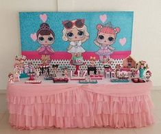 Ideas cumpleaños LOL Surprise Barbie Party, Doll Party, Creative Valentines Day Ideas, Girls Party Decorations, Lol Dolls, Party Activities, Childrens Party, Birthday Party Themes, Surprise Birthday