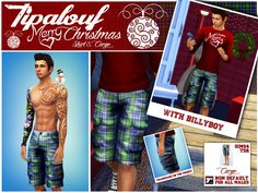 Tipalouf's Cargo Shorts Merry Christmas 2014 Sims 4 custom content