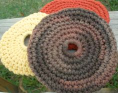 Brown Mini Flying Disc - Beach Fun - Dog Toy - Toddler Toy  - 100% Cotton Eco-Friendly Wet/Dry Soft Frisbee. $7.50, via Etsy.