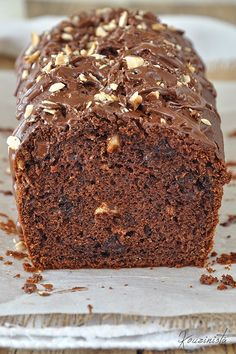 Hazelnut cake with three materials (without mixer) / Three ingredient nutella loaf cake (no mixer) Greek Sweets, Greek Desserts, Greek Recipes, Nutella Recipes, Sweets Recipes, Sweets Cake, Cupcake Cakes, Greek Cake, Nutella Cake