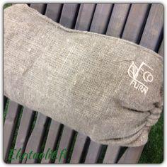 EcoChair, pine (gray) and linen pillow