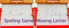spelling game for kids - missing letter game