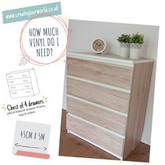 Ikea Hacks, Ikea Furniture Hacks, Ikea Malm Drawers, Dc Fix, Sticky Back Plastic, Plastic Design, Household Cleaners, Being A Landlord, Real Wood