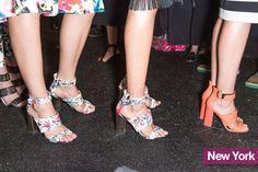 Tendenze scarpe estate 2015 sandali con tacchi alti squadrati