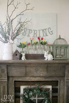 A lovely spring mantel