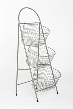 Ladder Storage Basket from Urban Outfitters.  This would make a gorgeous storage option for yarn!