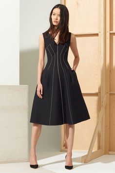 You can't go wrong with this feminine silhouette. // Contract Seams Dress by Derek Lam