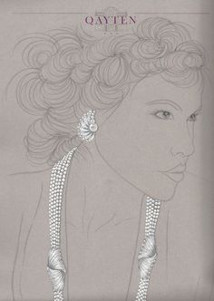 Necklace and earrings: akoya pearls and diamonds