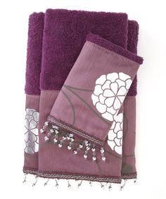 This Purple Avantie Towel Set by Popular Bath is perfect! #zulilyfinds