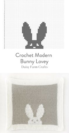 Handarbeit Free Pattern - Crochet Modern Bunny Lovey Tips to Remove Allergy Triggers in Your Home Wh Crochet Afghans, Crochet Motifs, Crochet Cushions, Crochet Chart, Crochet Blanket Patterns, Baby Blanket Crochet, Crochet Baby, Bunny Blanket, Knitting Charts