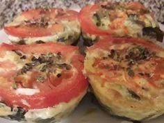Fabulosa receta para Muffins de acelga a la napolitana. Muy rico, liviano y muy sano. 😋