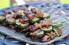 Grilled Chicken and Zucchini Yakitori from SkinnyTaste. #recipe