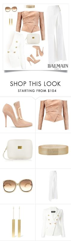 """""""#balmain"""" by liligwada ❤ liked on Polyvore featuring Balmain, Tom Ford and Off-White"""