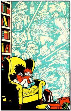 My FAV Child Reading Vintage ILLUSTRATION. Reading Digital Download. Vintage Book Print. by DandDDigitalDelights on Etsy https://www.etsy.com/listing/124843053/my-fav-child-reading-vintage