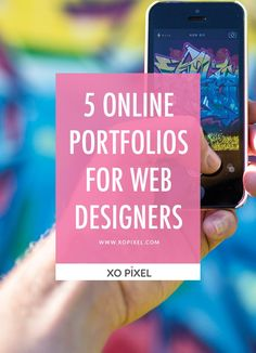 5 Online Portfolio Websites For Designers via xopixel.com