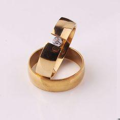 tabula rasa zircon cz 316L Stainless Steel finger ring  GOLD 6mm jewelry  wholesale jewelry