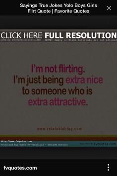 Not flirting