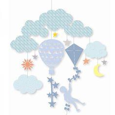 Djeco Mini Mobile Am Himmel aus der Kollektion little BIG room - Bonuspunkte sammeln, auf Rechnung bestellen, Blitzlieferung per DHL