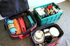 キャンプにハマるほど増えていく道具たち。しかもキャンプ道具は種類が多く、大きさも大小さまざま。「置くスペースがない」「収集がつかなくなる」という悩みを抱える方におすすめの、とっておきの収納術をご紹介します。 Van Camping, Camping Meals, Honda, Camping Desserts, Camping Aesthetic, Camping Coffee, Hanger Rack, Travel Items, Emergency Preparedness