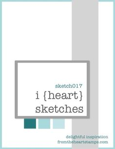 i {heart} card sketches no. 17 The little squares under the mat would look cute with ribbon scraps.