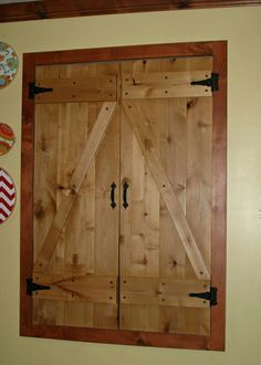Reclaimed Wood Attic Access Door Made From Our Old Fence