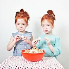 red head twin girls in cute #ootd — pinned by @ banabean.com