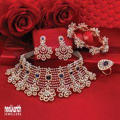 Diamond Necklaces, Diamond Jewellery, Diamond Pendant, Bead Jewelry, Jewelry Sets, Jewelery, Unique Jewelry, Indian Wedding Jewelry, Bridal Jewelry
