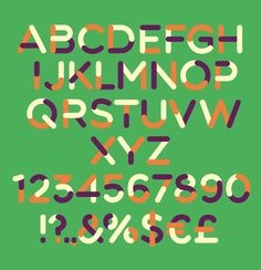 FREE vector typeface with 7 color palettes