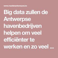 Big data zullen de Antwerpse havenbedrijven helpen om veel efficiënter te werken en zo veel tijd en geld te besparen.
