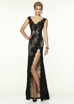 high-slit-black-v-neck-floor-length-lace-sheath-column-prom-evening-dress